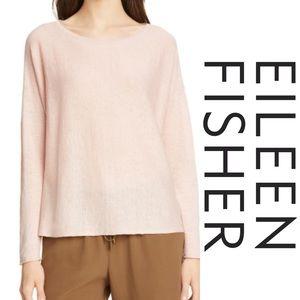 Eileen Fisher Pink Blush  Bateau Neck Tunic Sz PM